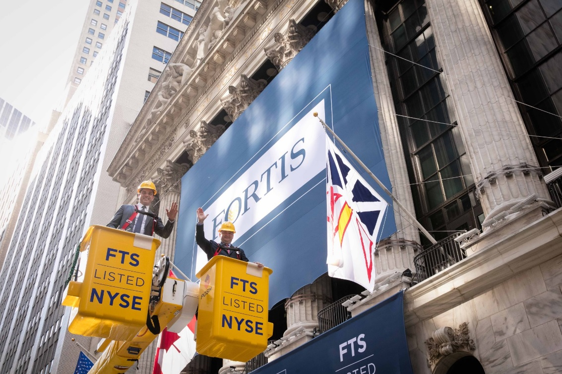 Fortis Inc Now Trading On The New York Stock Exchange