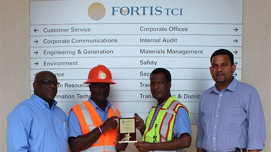 "FortisTCI Wins CARILEC's ""Best Performance in Safety"" Award"