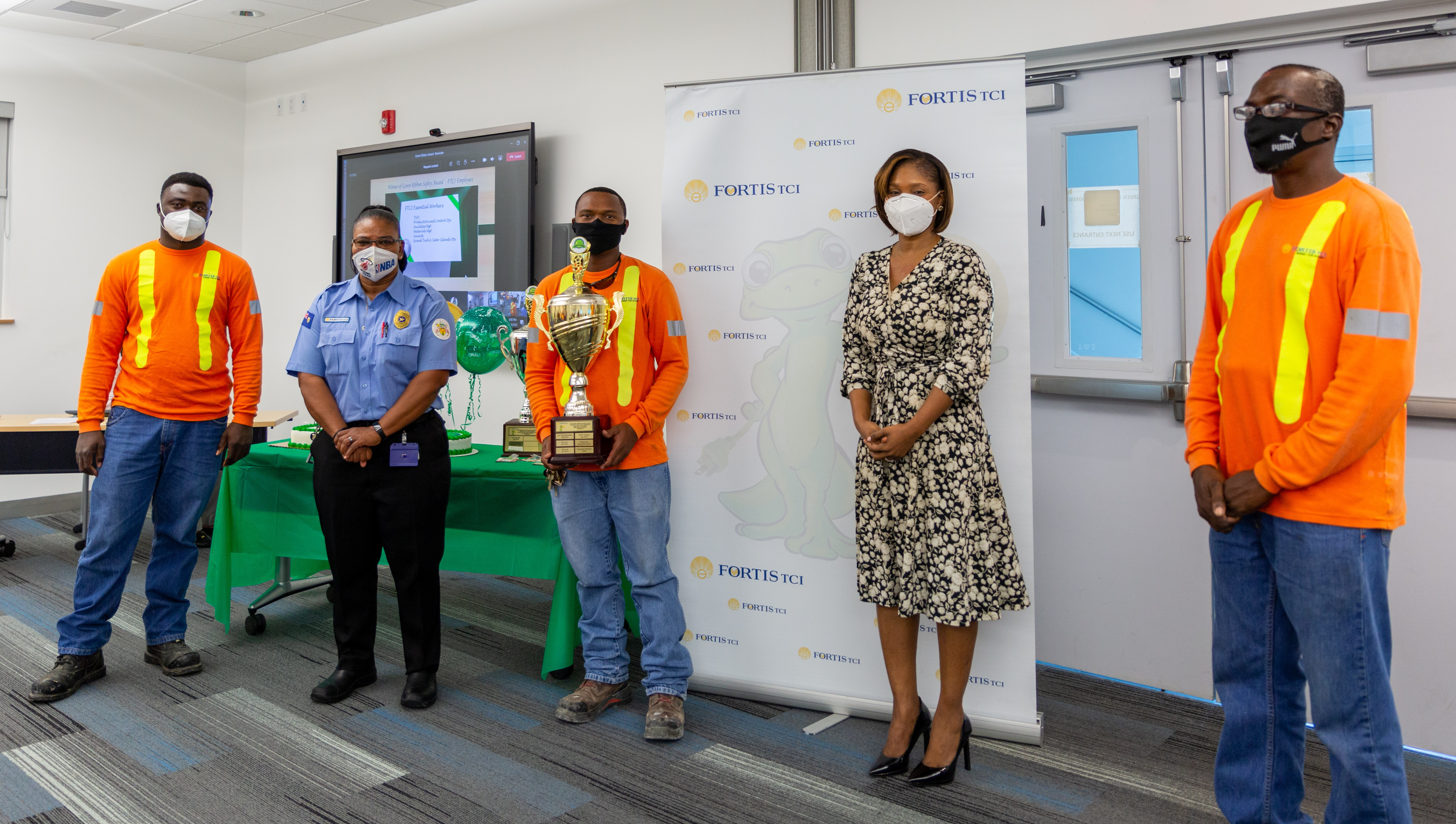 FortisTCI Honours Frontline Workers and Contractors with Green Ribbon Safety Awards
